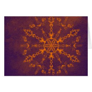 Fire wheel kaleidoscope horizontal card