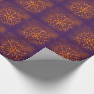 Fire wheel kaleidoscope tiled paper