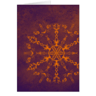 Fire wheel kaleidoscope vertical card