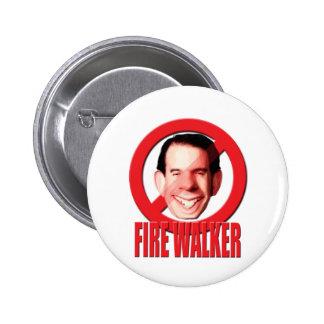Fire Wisconsin Governor Scott Walker 6 Cm Round Badge