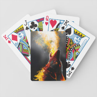 Fire wolf bicycle playing cards