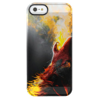 Fire wolf clear iPhone SE/5/5s case