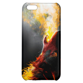 Fire wolf cover for iPhone 5C