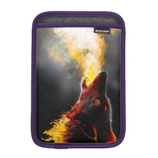 Fire wolf iPad mini sleeve
