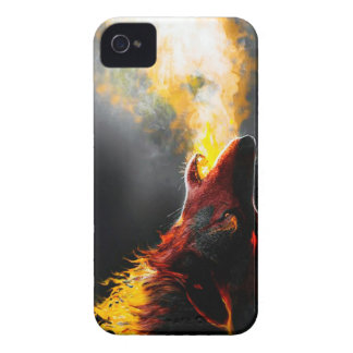 Fire wolf iPhone 4 cover