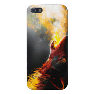 Fire wolf iPhone 5 case