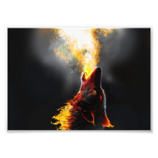 Fire wolf photo