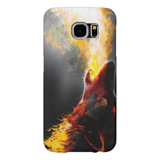 Fire wolf samsung galaxy s6 cases
