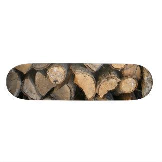 Fire wood skateboards