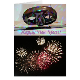 Fire Works New Year's Greeting Card