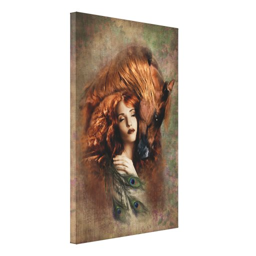 FIRE - Wrapped Canvas Canvas Print