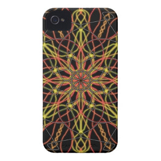 FIRE Yellow Orange Red and Black Abstract Art iPhone 4 Case