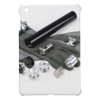 Firearm Suppressor Silencer with Military Gloves iPad Mini Cover