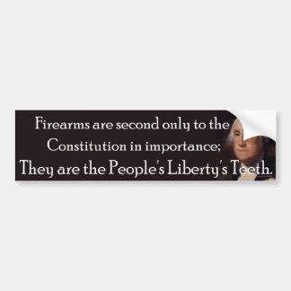 Firearms: People's Liberty's Teeth, Bumpersticker Bumper Sticker