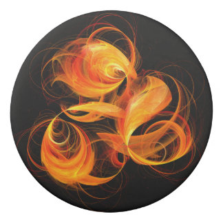 Fireball Abstract Art Eraser