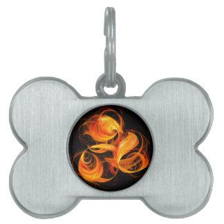 Fireball Abstract Art Pet ID Tag