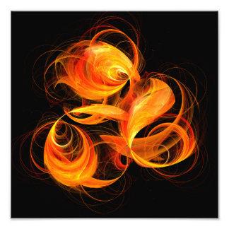 Fireball Abstract Art Photo Print