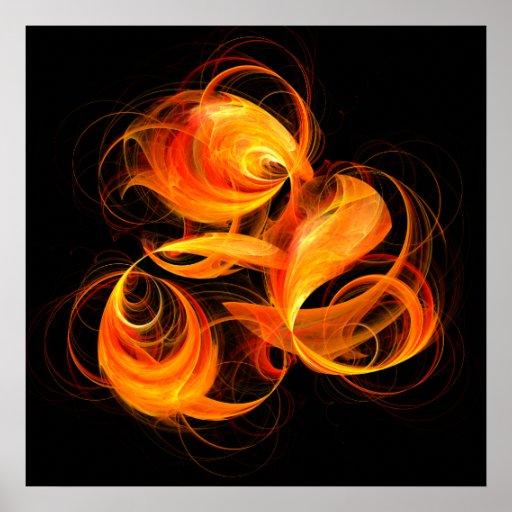 Fireball Abstract Art Print