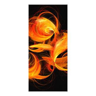 Fireball Abstract Art Rack Card