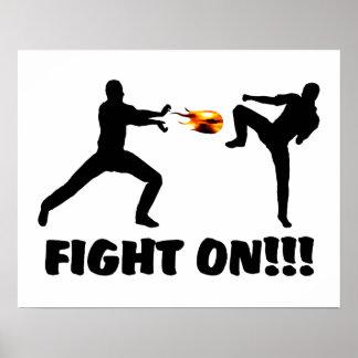 Fireball Gamer Fight On Poster