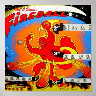 Fireball Pinball Poster
