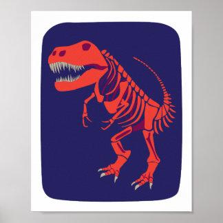 Fireball T-Rex Print