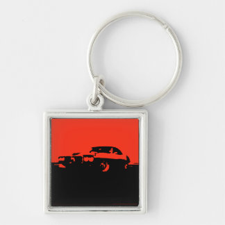 Firebird, 1969 - Red on dark keychain