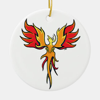 Firebird Ceramic Ornament