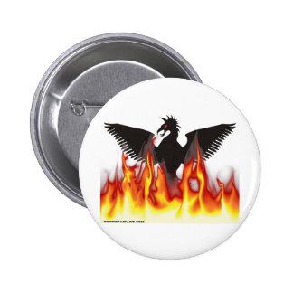 FireBird / Phoenix 6 Cm Round Badge
