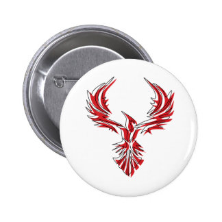 Firebird - Phoenix 6 Cm Round Badge