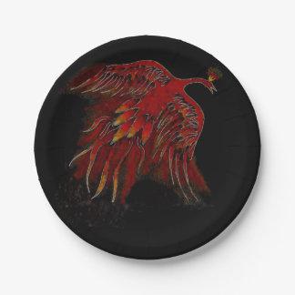 Firebird/Phoenix Paper Plates