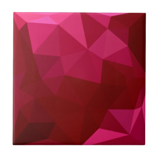 Firebrick Red Abstract Low Polygon Background Tile