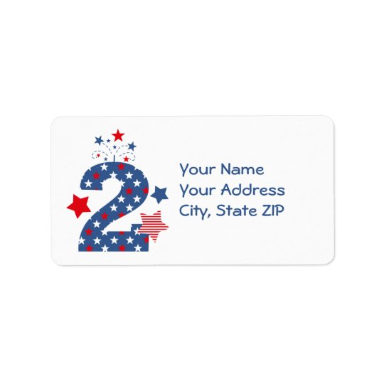 Firecracker 2nd Birthday Address Label