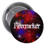Firecracker 7.5 Cm Round Badge