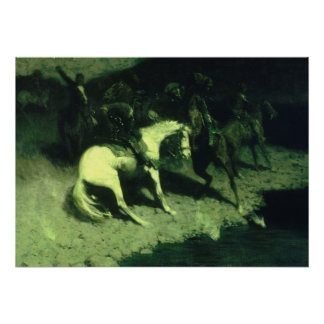Fired On by Frederic Remington Poster