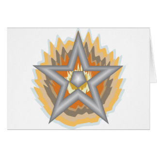 FIRED STAR GREETING CARD