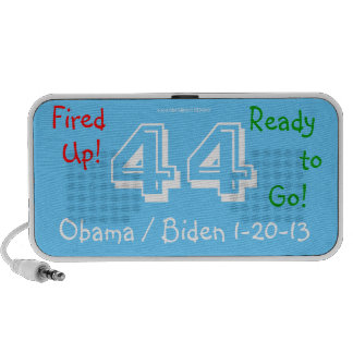 Fired Up! Obama 44 Biden 3D Fired Up! Ready to GO! Mini Speakers