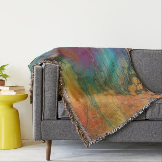 Firefall Abstract Art Throw Blanket