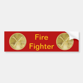 Firefighter 2 Bugle Medallion Bumper Sticker