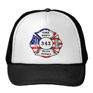 Firefighter 9/11 Never Forget 343 Cap
