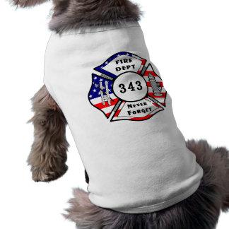 Firefighter 9/11 Never Forget 343 Shirt