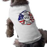 Firefighter 9/11 Never Forget 343 Sleeveless Dog Shirt