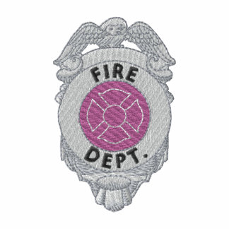 Firefighter Badge Embroidered Polo Shirts