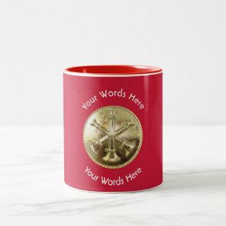 Firefighter Battalion Chief Gold Medallion Two-Tone Coffee Mug