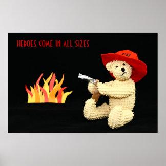 Firefighter Bear Heroes Poster