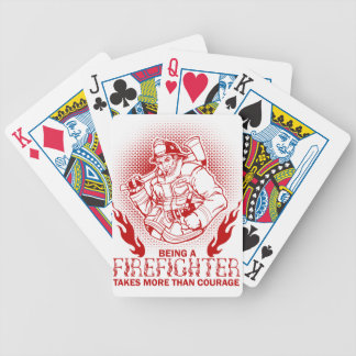 Firefighter Bicycle Playing Cards