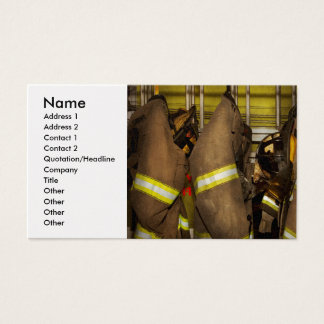 Firefighter - Bunker Gear Business Card