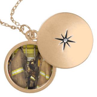 Firefighter - Bunker Gear Locket Necklace