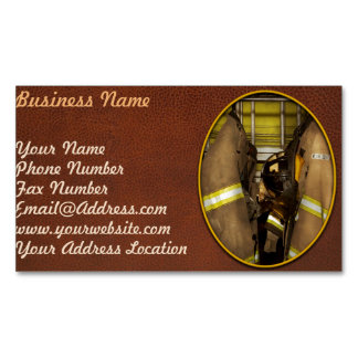 Firefighter - Bunker Gear Magnetic Business Card