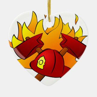 Firefighter Ceramic Ornament